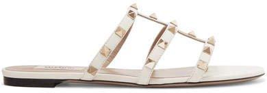 Garavani The Rockstud Leather Sandals - Ivory