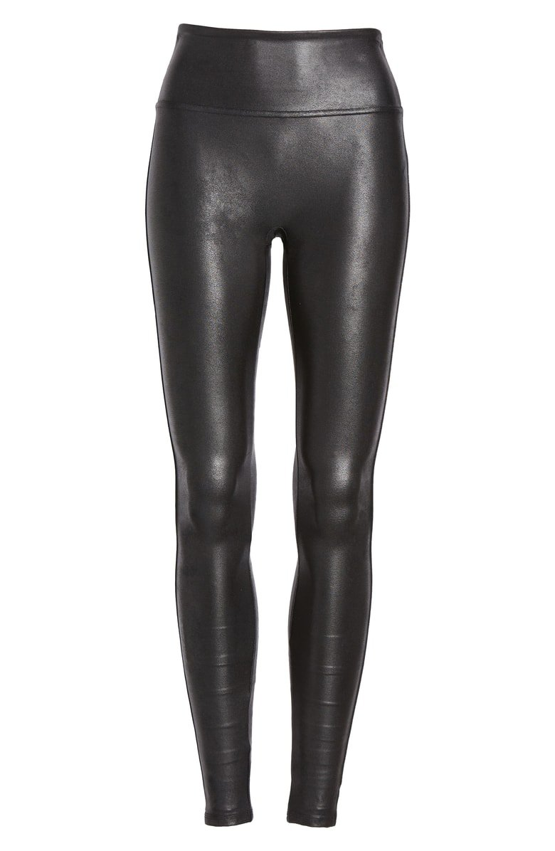 SPANX® Faux Leather Leggings Black