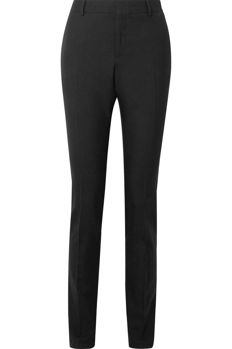 SAINT LAURENT | Wool-gabardine slim-leg pants | NET-A-PORTER.COM