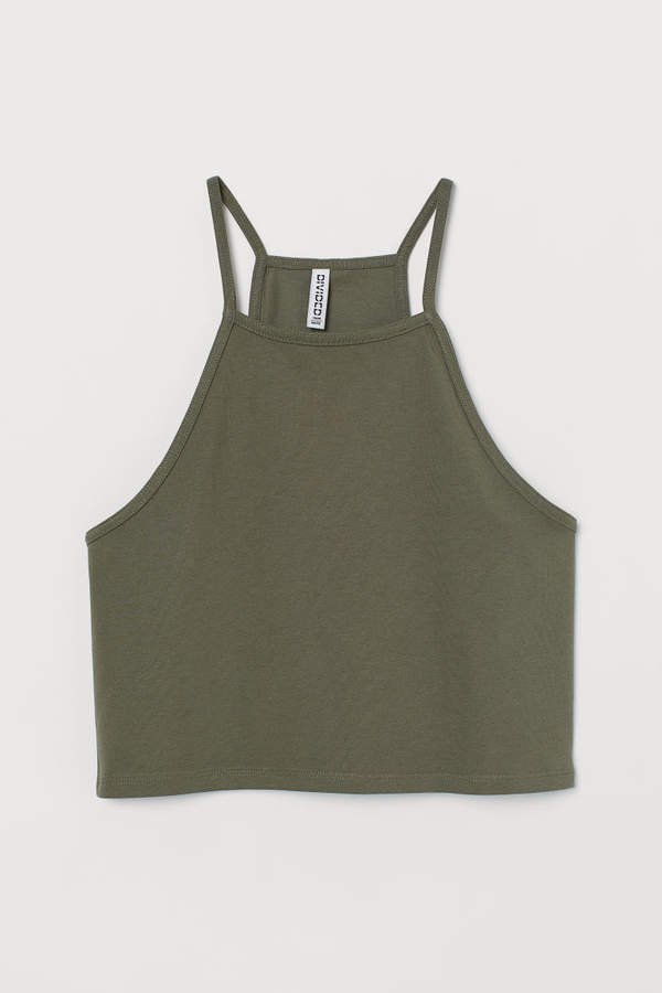 Short Camisole Top - Green