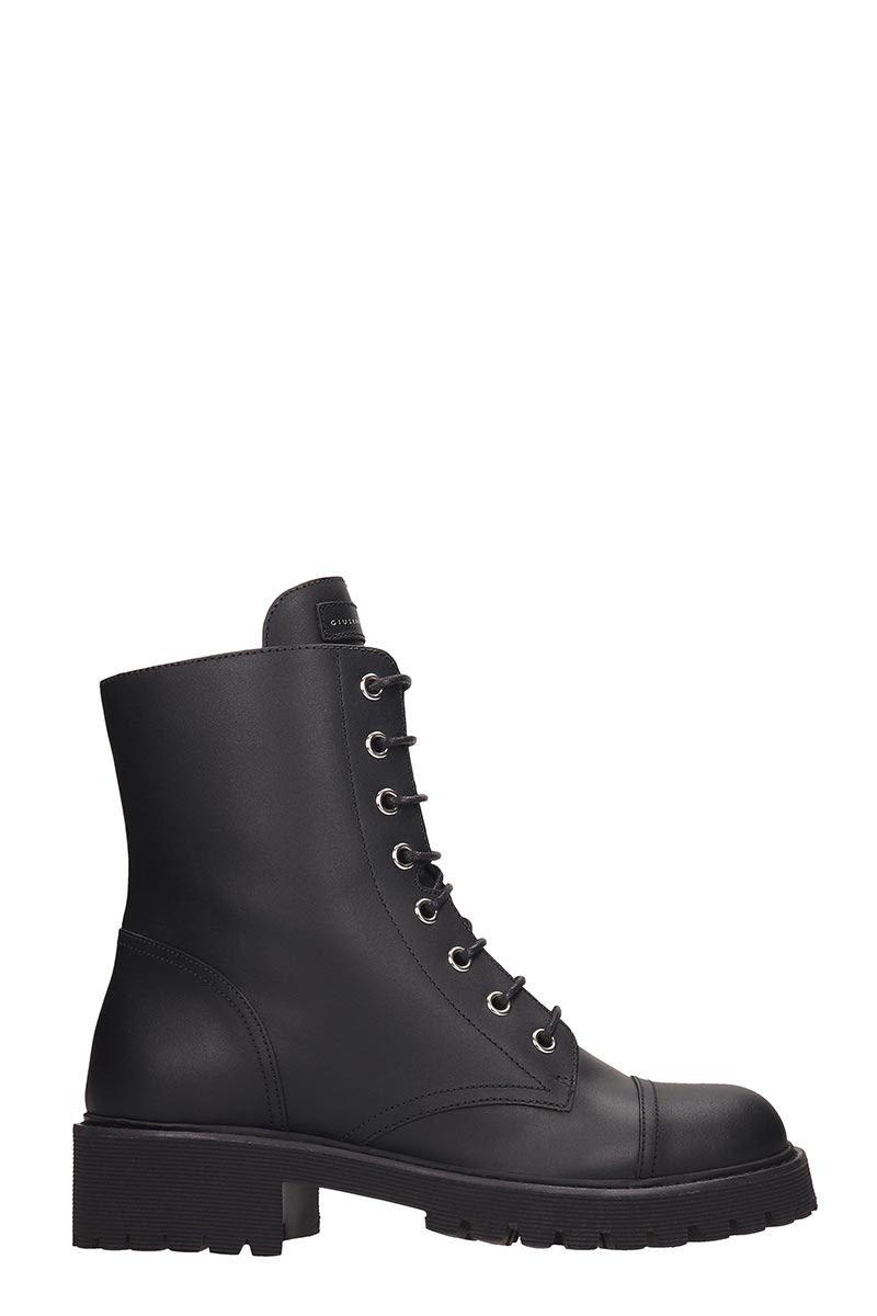 Giuseppe Zanotti Black Combat Boots