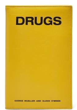 Drugs Book Style Leather Clutch - Womens - Yellow