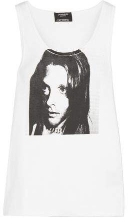 + Andy Warhol Foundation Printed Ribbed Stretch-cotton Jersey Tank