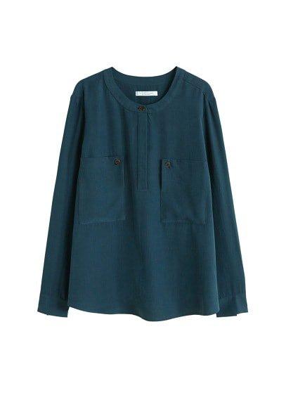 Violeta BY MANGO Pocket modal blouse