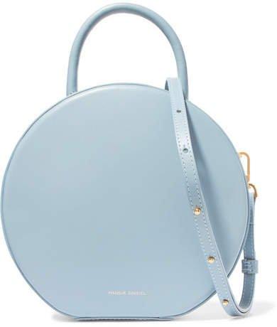 Circle Leather Shoulder Bag - Light blue