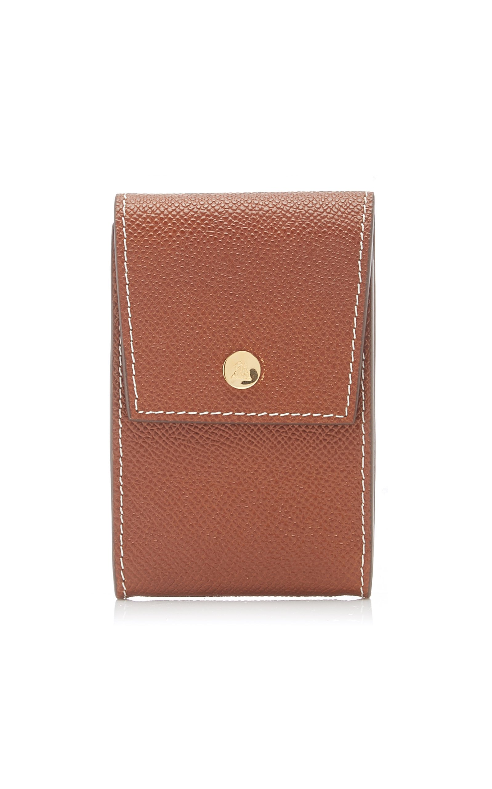 Mark Cross Snap Leather Card Case