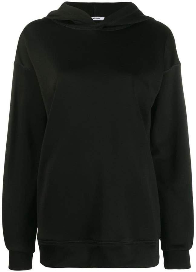 Styland logo sleeve print hoodie
