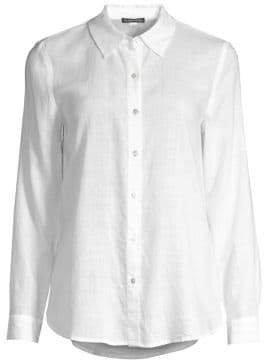 Women's Collared Button-Down Shirt - White - Size XXS