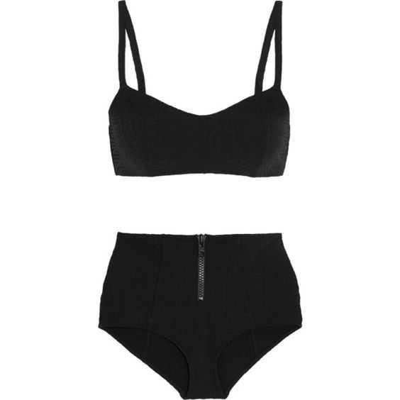 Lisa Marie Fernandez Genevieve Seersucker Bikini