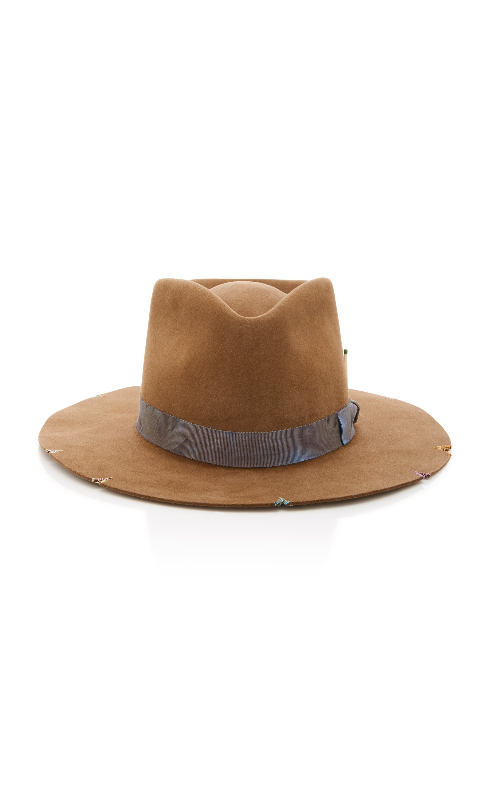 Nick Fouquet Whiskey Springs Ribbon-Trimmed Felt Hat Size: 7 1/8
