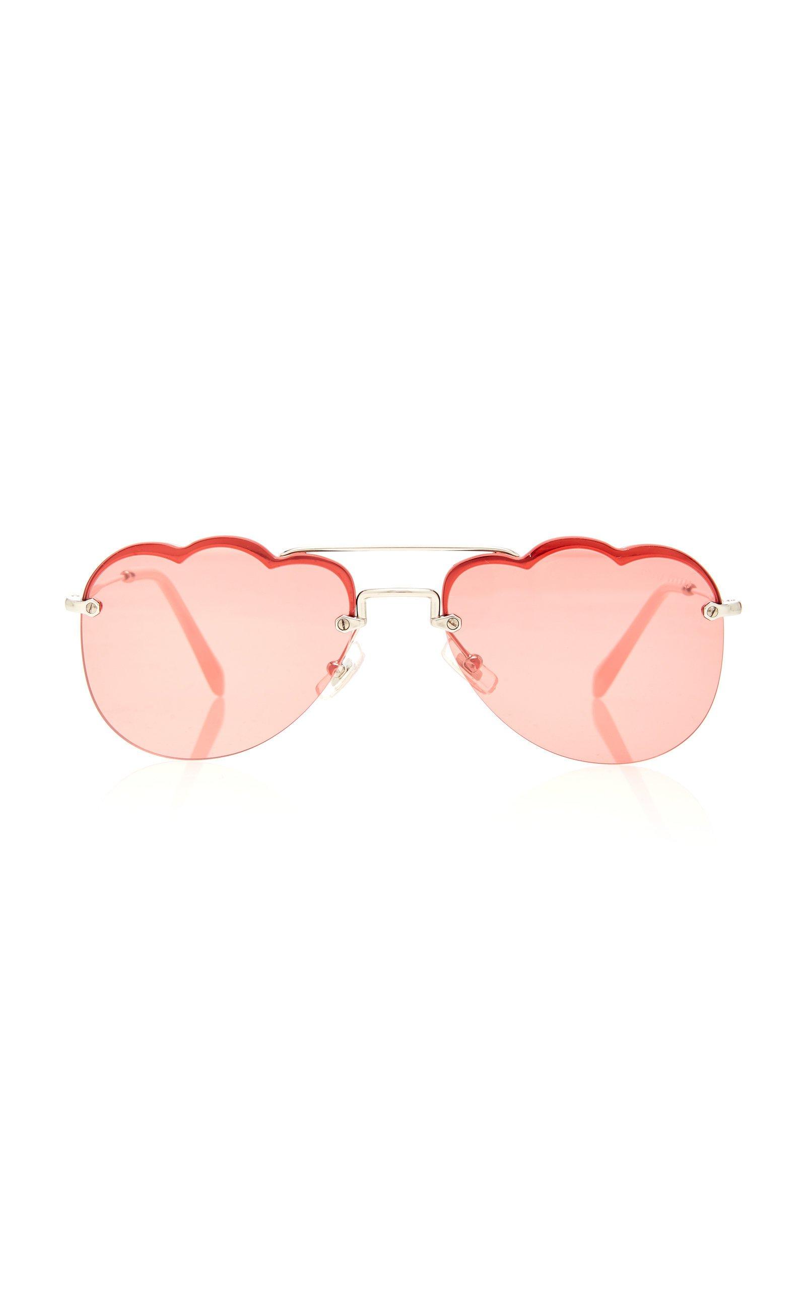 Miu Miu Sunglasses Aviator-Style Metal Sunglasses