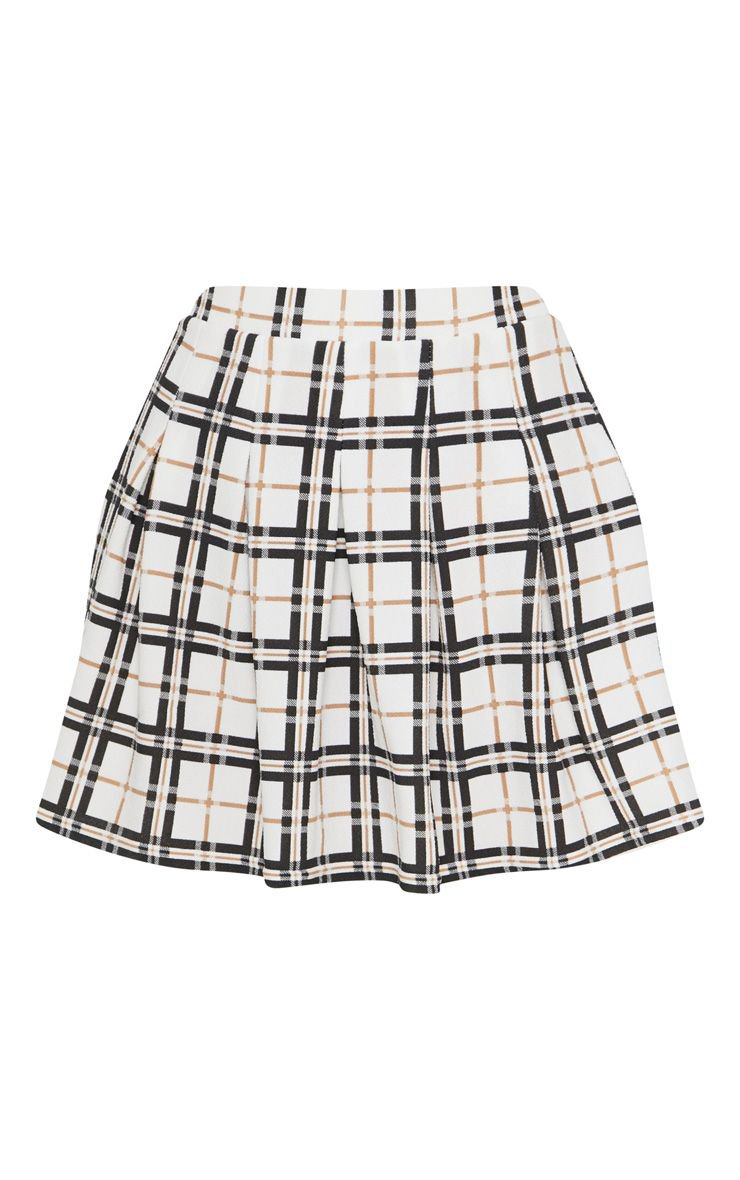 Yellow Check Tennis Skirt | Skirts | PrettyLittleThing USA