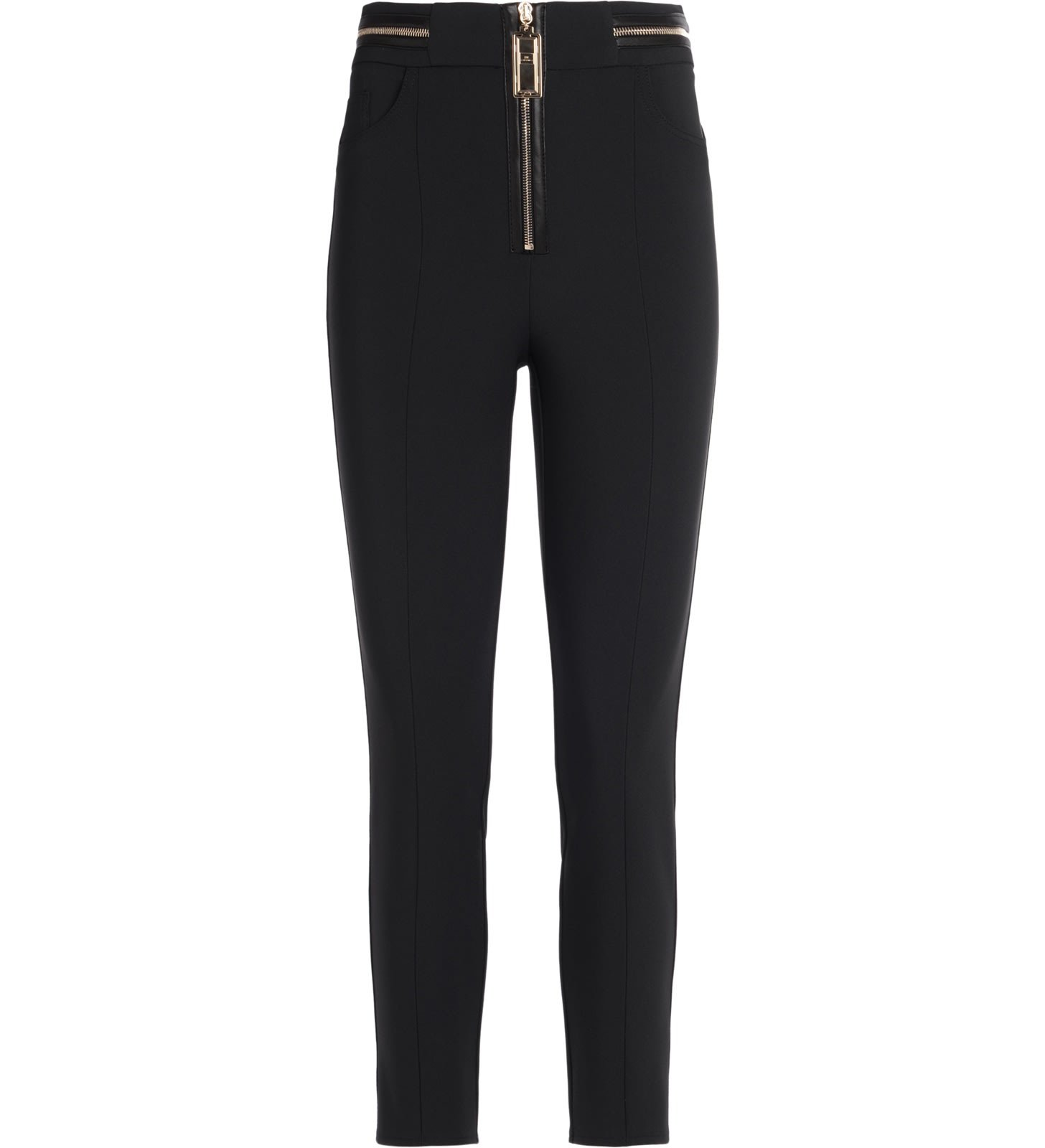 Elisabetta Franchi Tight-fitting Black Trousers With Front Zip