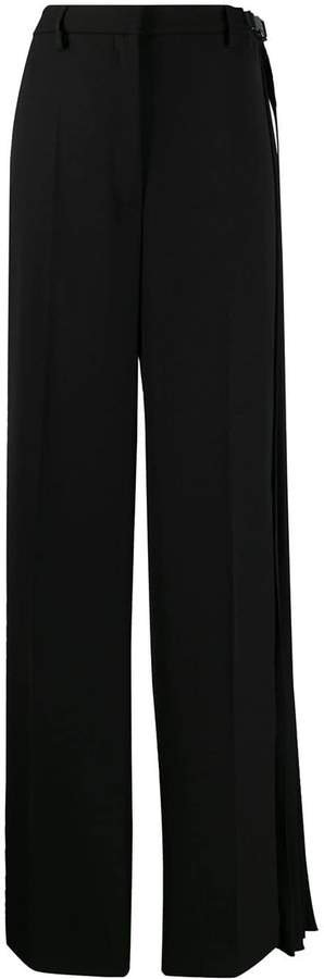 pleated detail tailored trousers