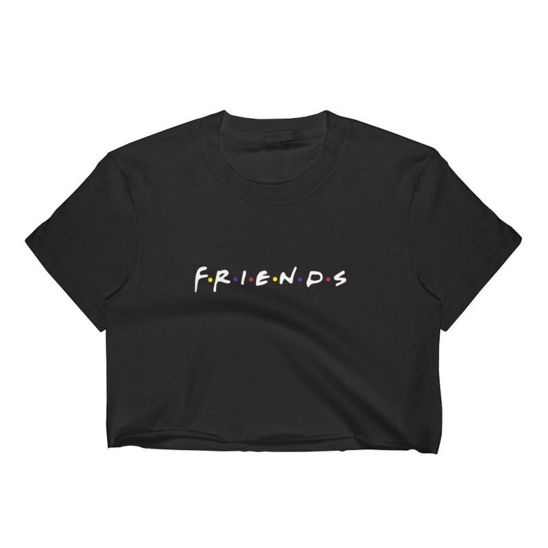 Friends Logo Crop Top T-Shirt Women's S-2XL | Etsy
