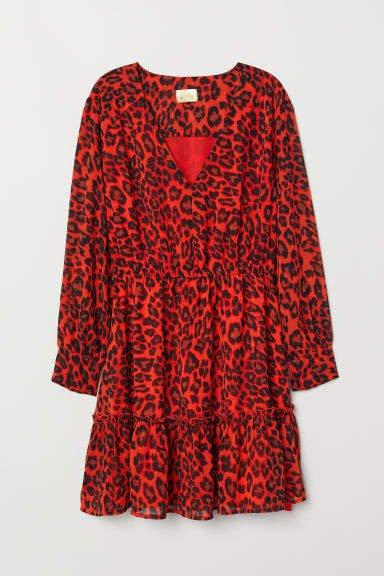 Short Chiffon Dress - Orange