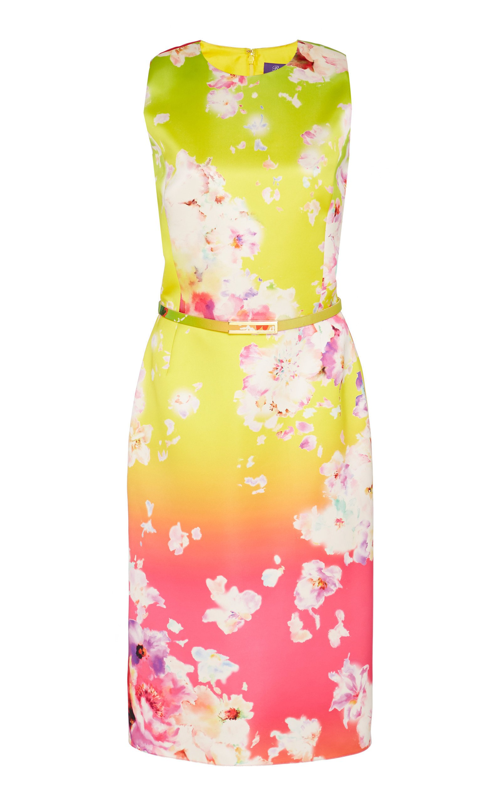 Ralph Lauren Tuscon Floral Satin Dress
