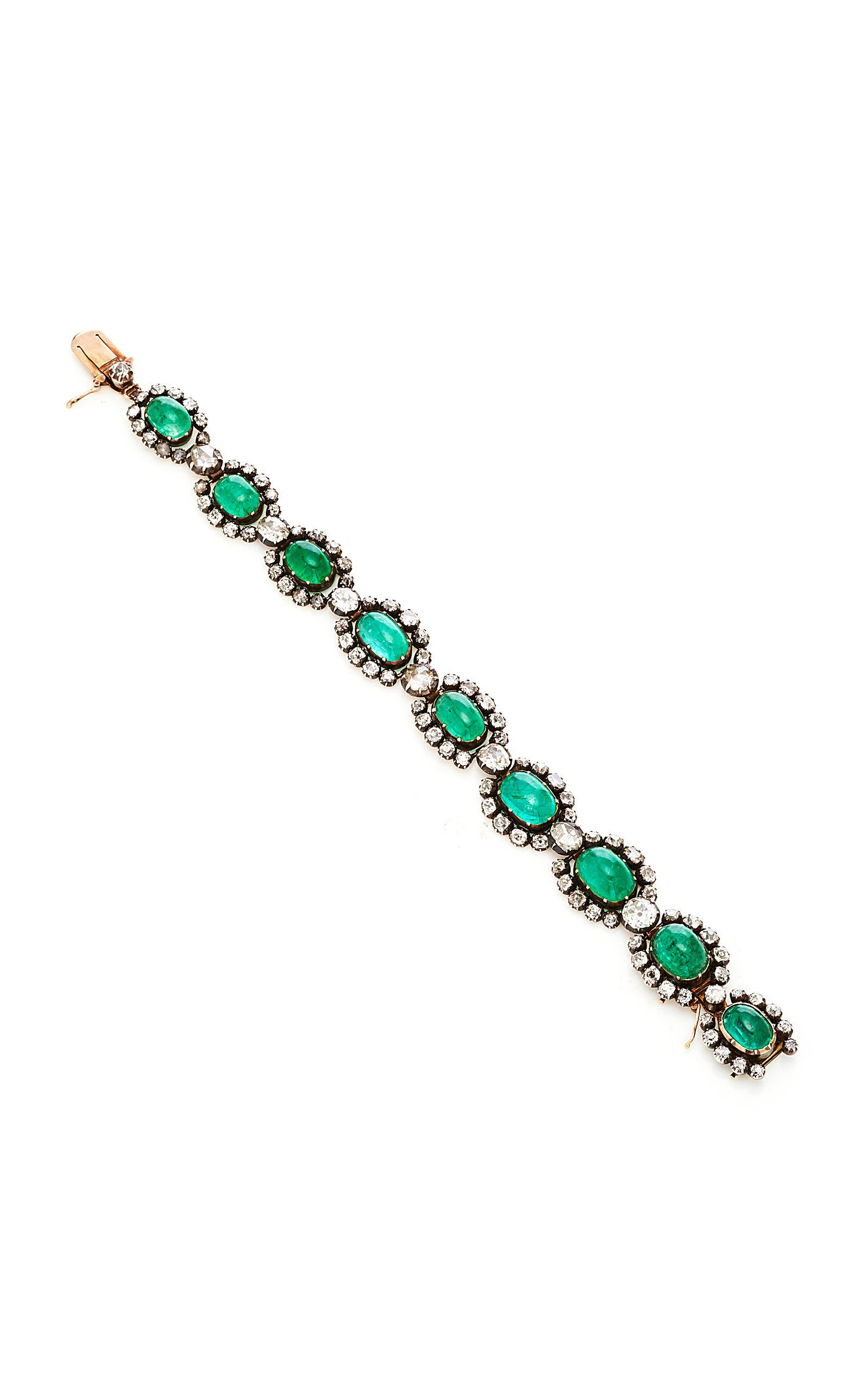 Simon Teakle Antique Emerald Necklace