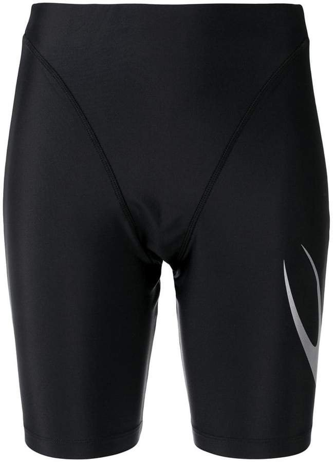 panelled stretch-fit shorts