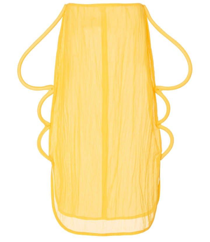 Rejina Pyo Myra Piping-Detailed Cotton Voile Skirt Size: 10
