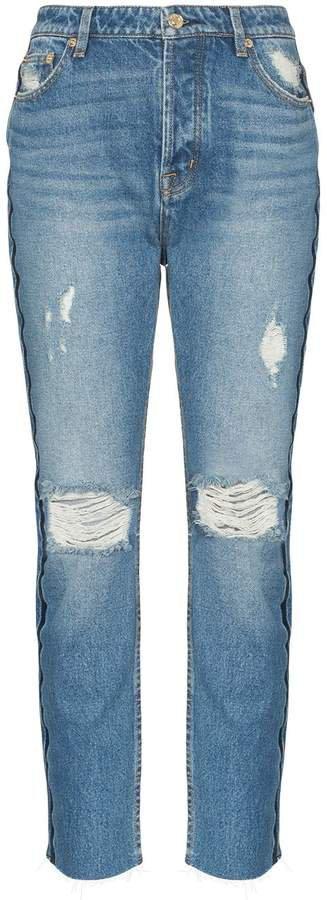 1993 distressed straight-leg jeans