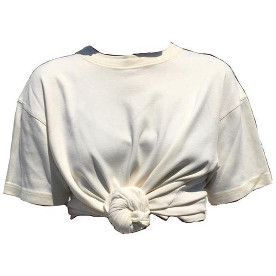 White tied shirt