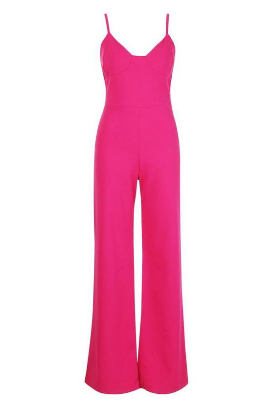 Cupped Strappy Jumpsuit | Boohoo