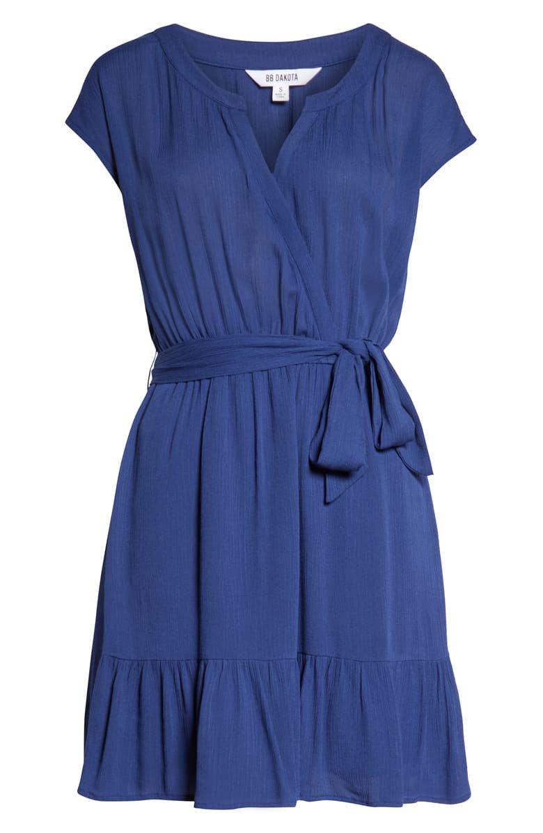BB Dakota Crinkle Minidress blue