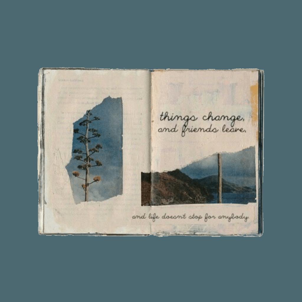 niche moodboard vintage aesthetic book notebook scrapbo...