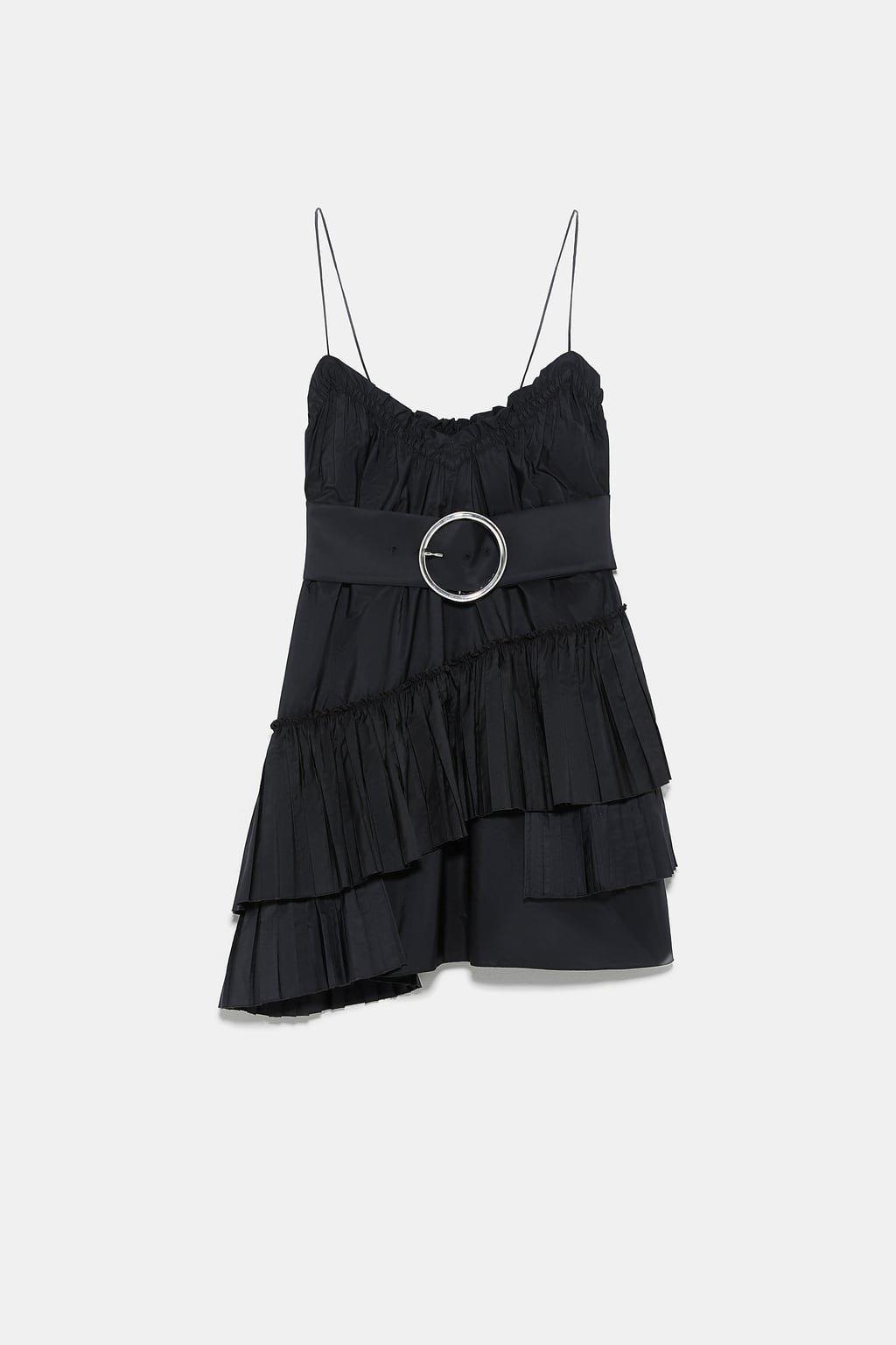 BELTED MINI DRESS - BASICS-WOMAN | ZARA United States black