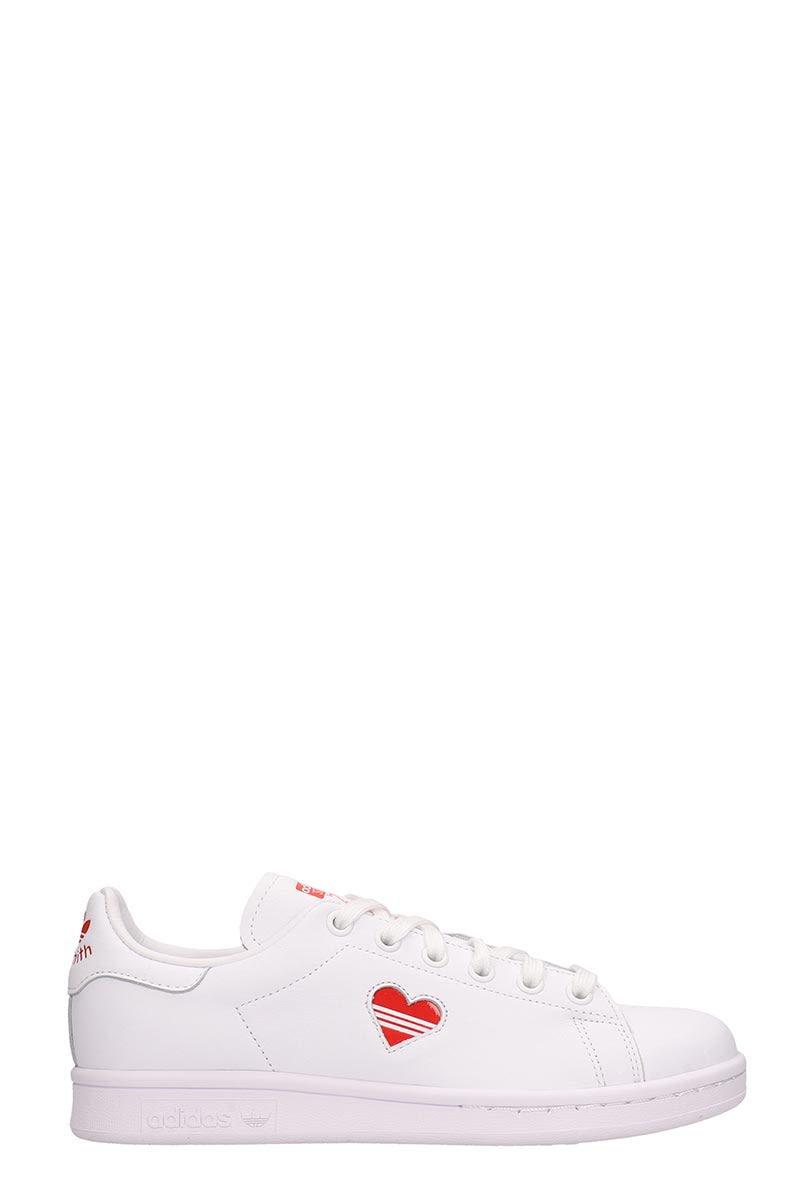 Adidas White Leather Stan Smith Sneakers