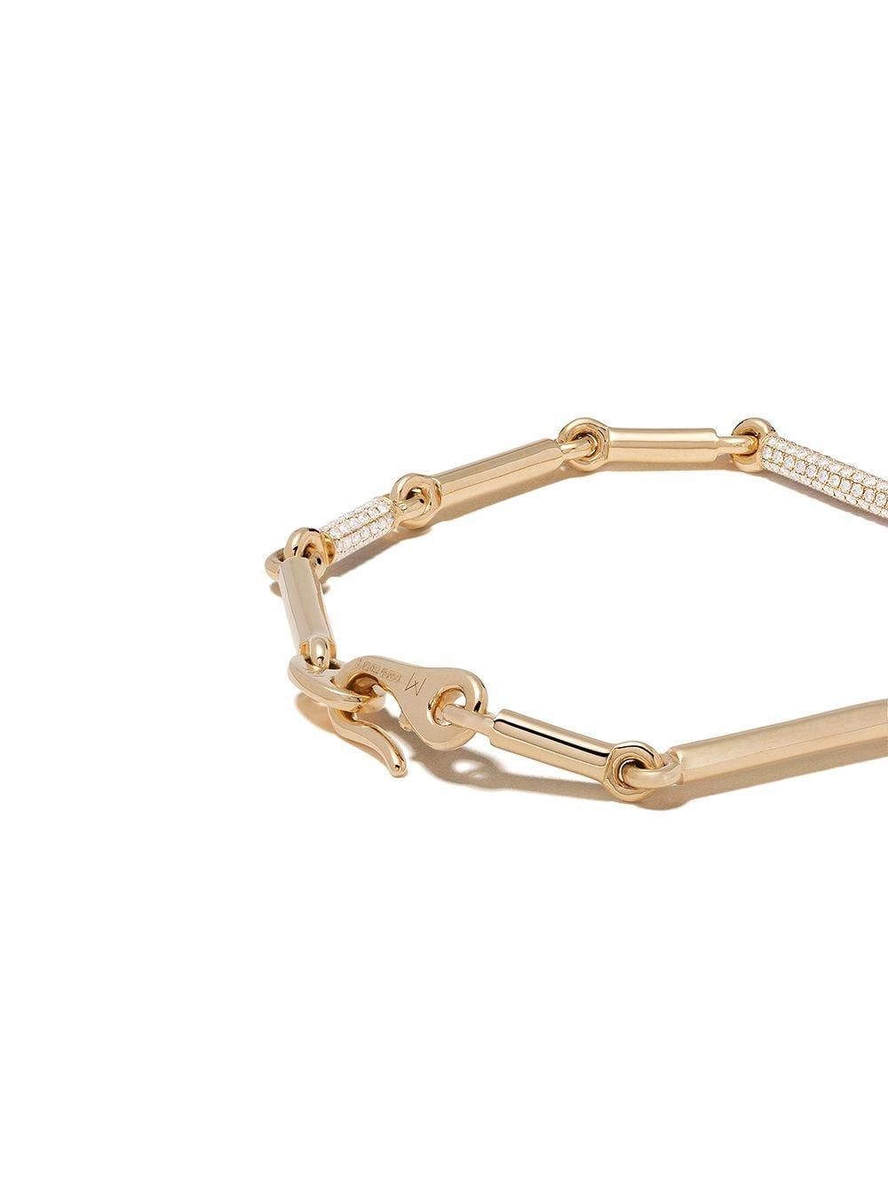 MAOR 18kt Yellow Gold Orion Diamond Bracelet - Farfetch