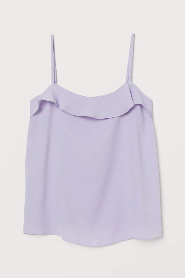 Camisole Top with Flounce - Purple