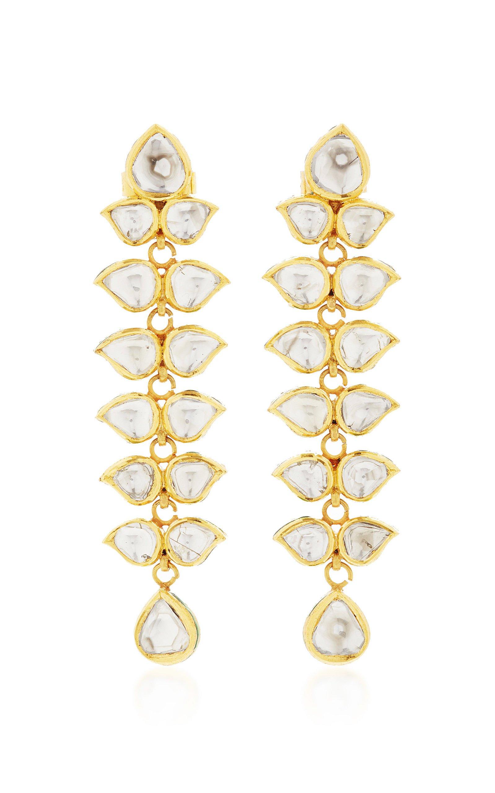 Sanjay Kasliwal Raj 22k Gold and Diamond Earrings