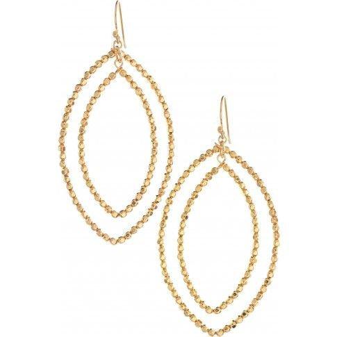Stella & Dot Gold Bardot Earrings