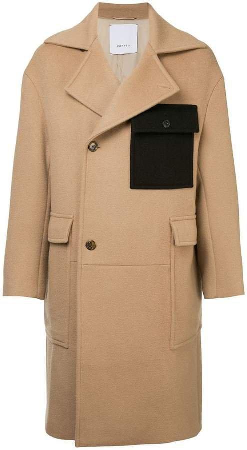 Ports V double-breasted coat