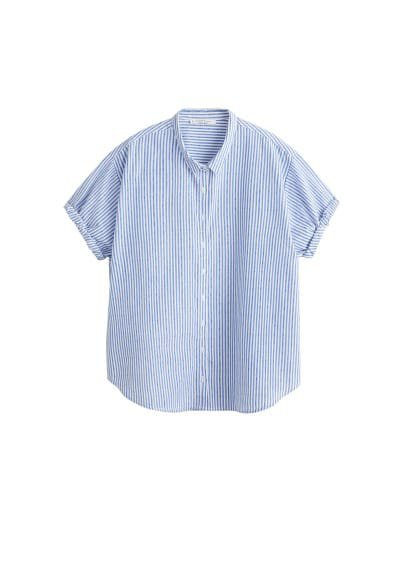 Violeta BY MANGO Buttoned cotton shirt