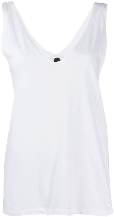 plunging neck tank top