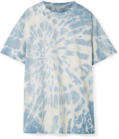 Oversized Tie-dye Cotton-jersey T-shirt - Blue