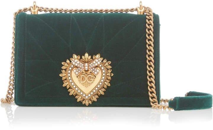 Devotion Embellished Velvet Shoulder Bag