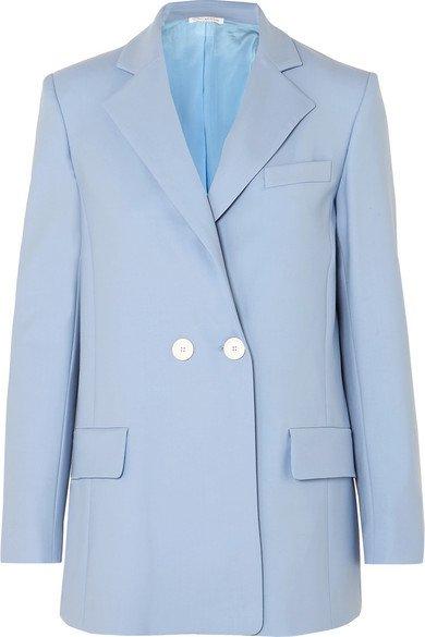 Oscar de la Renta | Double-breasted wool-blend twill blazer | NET-A-PORTER.COM