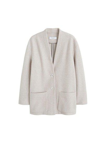 Violeta BY MANGO Unstructured cotton blazer