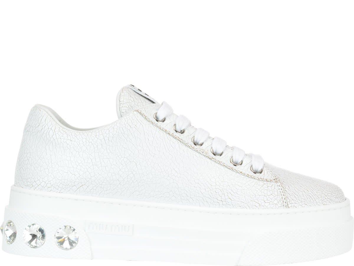 Miu Miu Leather Sneakers