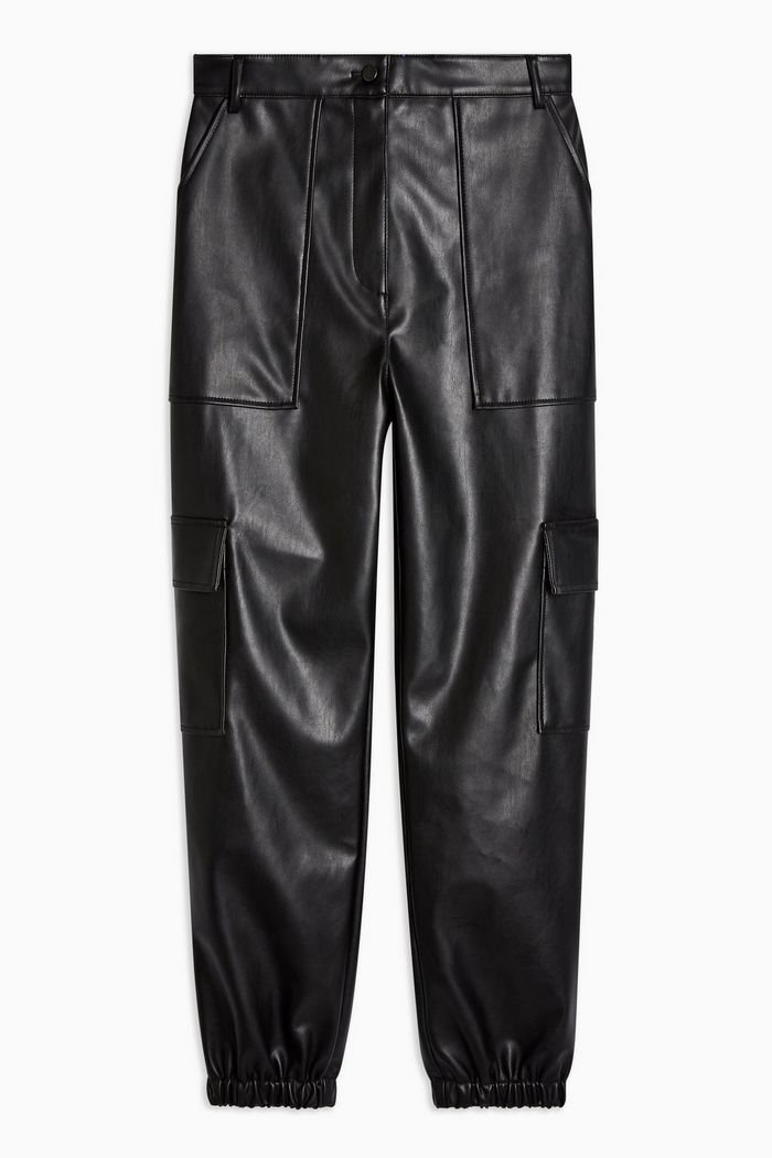 Faux Leather Utility Trousers | Topshop