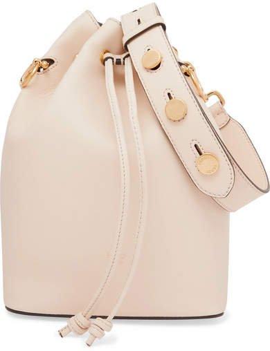Mon Trésor Large Leather Bucket Bag - Off-white