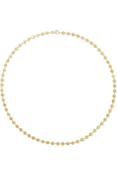 Jennifer Meyer   Mini Circle 18-karat gold necklace   NET-A-PORTER.COM