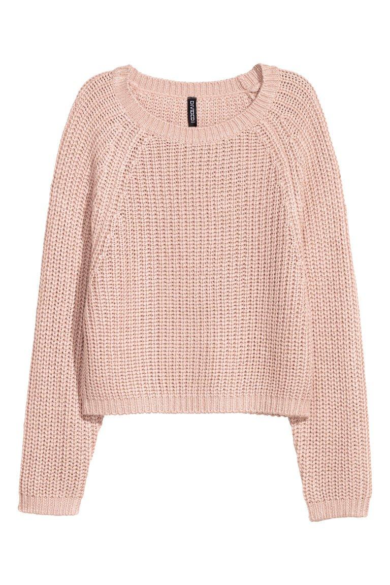 Rib-knit Sweater - Antique rose - | H&M US