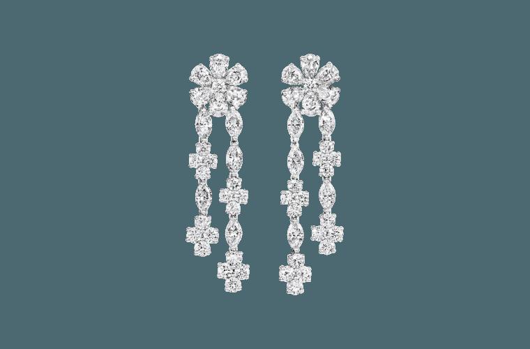Forget-Me-Not Diamond Drop Earrings | Harry Winston