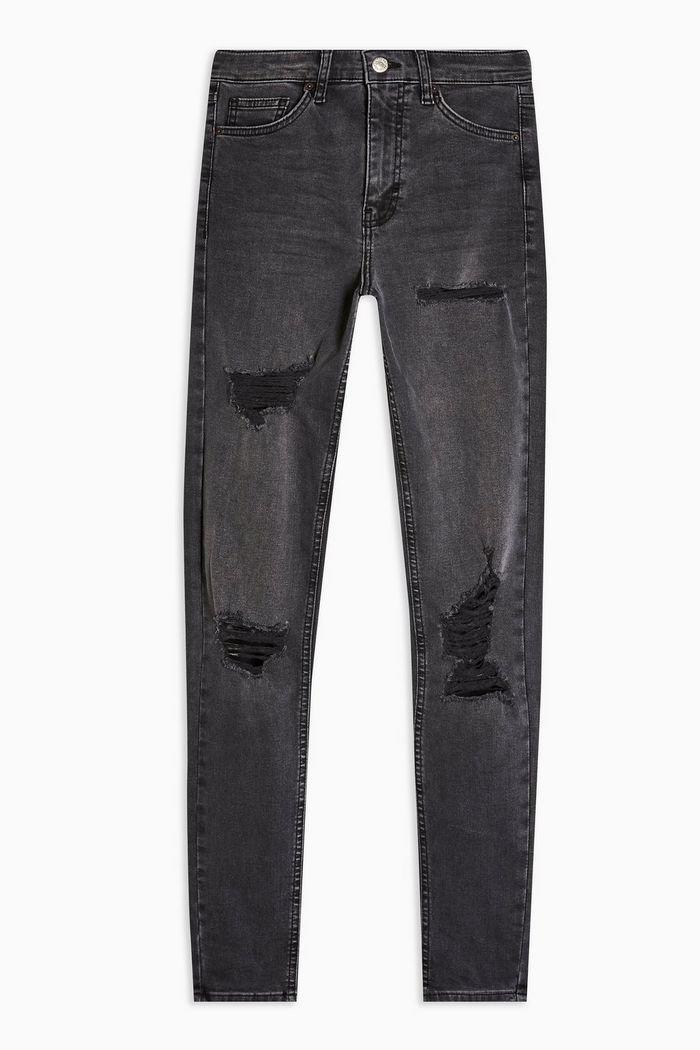 Washed Black Super Rip Jamie Jeans | Topshop
