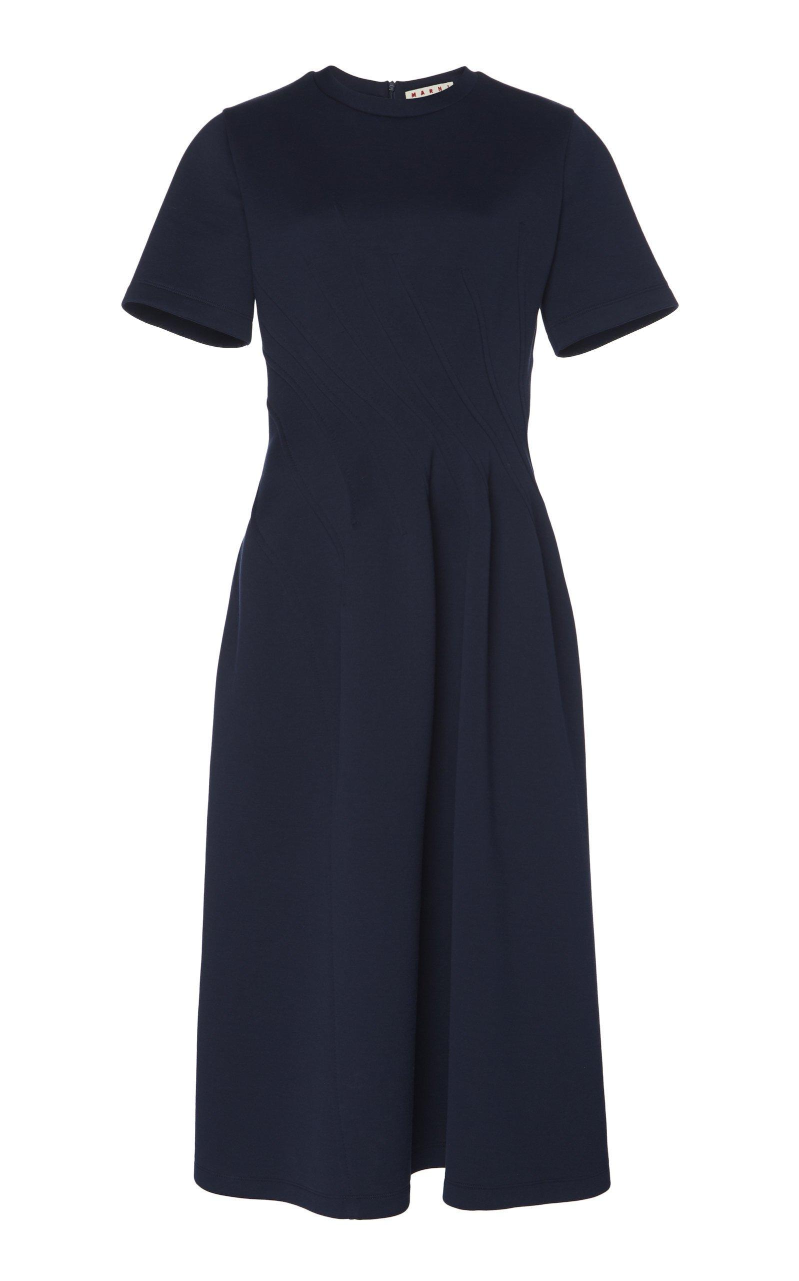 Marni Stitched Waist Midi Dress